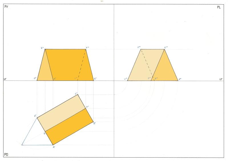 PO Prisma triangolare ruotato