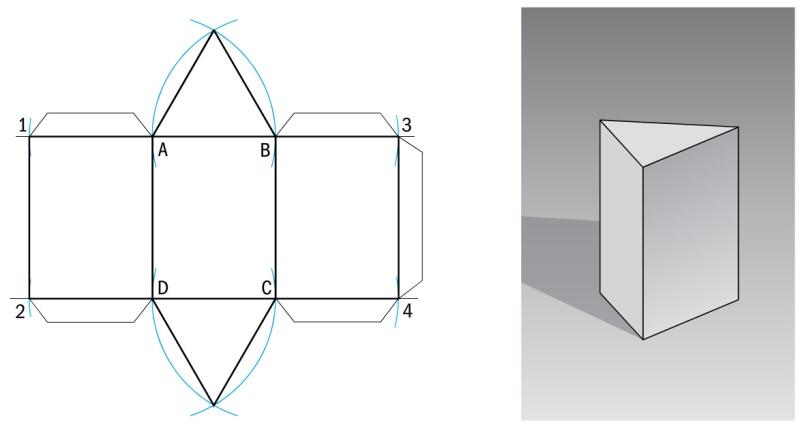 sviluppo solidi - prisma triangolare