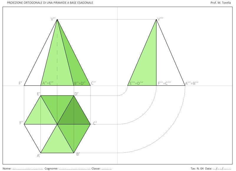 proiezione-ortogonale-piramide-esagonale